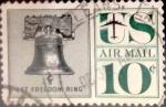 Sellos de America - Estados Unidos -  Intercambio 0,70 usd 10 cents. 1960