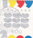 Sellos de Europa - Dinamarca -  CORAZONES