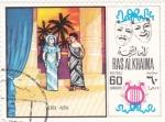 Sellos de Asia - Emiratos Árabes Unidos -  OPERA VERDI-AIDA- RAS AL KHAIMA