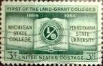 Sellos del Mundo : America : Estados_Unidos : Intercambio js 0,20 usd 3 cents. 1955