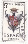 Stamps Spain -  Escudo de Toledo (18)