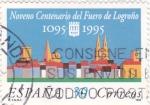 Stamps Spain -  Noveno Centenario del Fuero de Logroño (18)