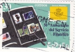 Sellos de Europa - España -  50 Aniversario del servicio filatélico (18)