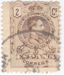 Stamps : Europe : Spain :  Alfonso XIII- Medallón (18)
