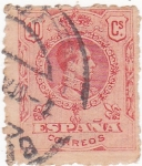 Stamps Spain -  Alfonso XIII- Medallón (18)