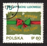 Stamps Poland -  Peasant Movement Flag