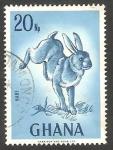 Stamps : Africa : Ghana :  Un conejo