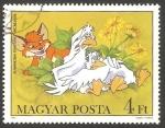 Sellos de Europa - Hungría -  2837 - Vuk, el pequeño zorro, Héroe animal de Attila Dargay