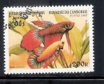 Stamps : Asia : Cambodia :  Betta splendens