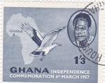 Stamps Ghana -  Conmemoración Independencia