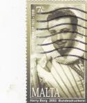 Sellos de Europa - Malta -  Oreste Kirkop- Cantante de opera