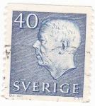 Stamps Sweden -  Gustavo VI de Suecia