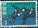 Sellos del Mundo : Europa : Suiza : Pareja de patinaje sobre hielo