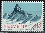 Sellos del Mundo : Europa : Suiza : montaña Finsteraarhorn