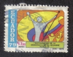 Stamps Ecuador -  Restauración de la Democracia en el Ecuador