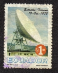 Sellos del Mundo : America : Ecuador : Inauguracion de La Estacion Terrena Satelital