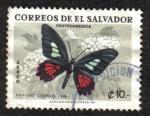Sellos del Mundo : America : El_Salvador : Mariposa