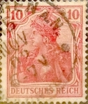 Stamps Germany -  Intercambio 0,60 usd 10 pf. 1902