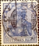 Stamps : Europe : Germany :  20 pf. 1902