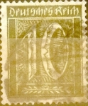 Stamps : Europe : Germany :  10 pf. 1921