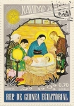 Stamps Africa - Equatorial Guinea -  Japón Navidad 74
