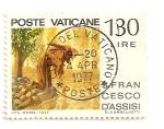 Sellos de Europa - Vaticano -  S. Fco. de Asis