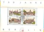 Sellos de Europa - Alemania -  750 aniversario de la fundacion de Berlin. Hoja bloque.