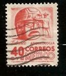 Sellos de America - México -  Cabeza de piedra. Tabasco