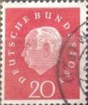 Sellos del Mundo : Europa : Alemania : Intercambio 0,20 usd 20 pf. 1959