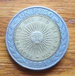 monedas de America - Argentina -  NUEVO PESO ARGENTINO- (ANVERSO)