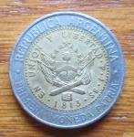 monedas de America - Argentina -  NUEVO PESO ARGENTINO- (REVERSO)