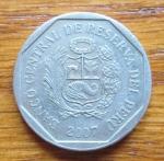 monedas de America - Perú -  MONEDA REPUBLICA DE PERU - ( REVERSO )