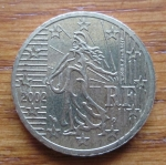 monedas de Europa - Francia -  MONEDA EURO CENT FRANCIA - (REVERSO)