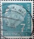 Sellos de Europa - Alemania -  Intercambio 0,20 usd 7 pf. 1954