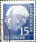 Sellos de Europa - Alemania -  Intercambio 0,30 usd 15 pf. 1954
