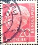 Sellos de Europa - Alemania -  Intercambio 0,20 usd 20 pf. 1954