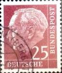 Sellos de Europa - Alemania -  Intercambio 0,40 usd 25 pf. 1954