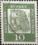 Sellos de Europa - Alemania -  Intercambio 0,20 usd 10 pf. 1961