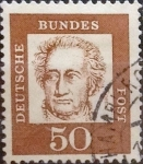 Stamps Germany -  Intercambio 0,20 usd 50 pf. 1961