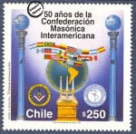 Stamps of the world : Chile :  Confederacion Masonica interamericana