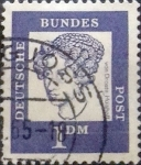 Stamps Germany -  Intercambio 0,20 usd 1 marco 1961