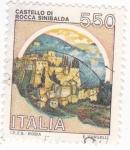Stamps Italy -  Castillo de Roca Sinibalda
