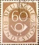 sello : Europa : Alemania : Intercambio mas 0,30 usd 60 pf. 1952