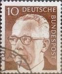 Stamps Germany -  Intercambio 0,20 usd 10 pf. 1970