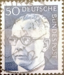 Stamps Germany -  Intercambio 0,20 usd 50 pf. 1971