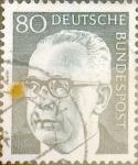 Sellos de Europa - Alemania -  Intercambio 0,30 usd 80 pf. 1971