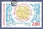 sellos de Europa - Francia -  Centenario de la Gran Logia de Francia 1894-1994