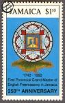 Sellos del Mundo : America : Jamaica : 250 Años de la Masonería Inglesa en Jamaica