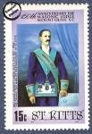 Sellos del Mundo : America : San_Cristobal : 150 aniversario de la fundación de la Logia Masónica Mount Olive