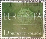 Stamps Germany -  Intercambio 0,20 usd 10 pf. 1959